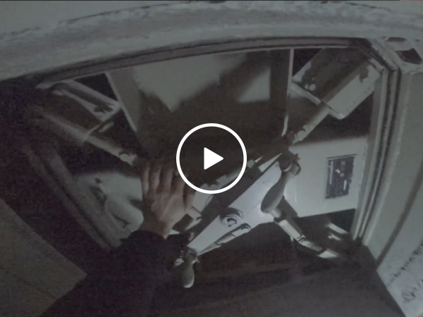 Guy breaks into an abandoned underground safe house
