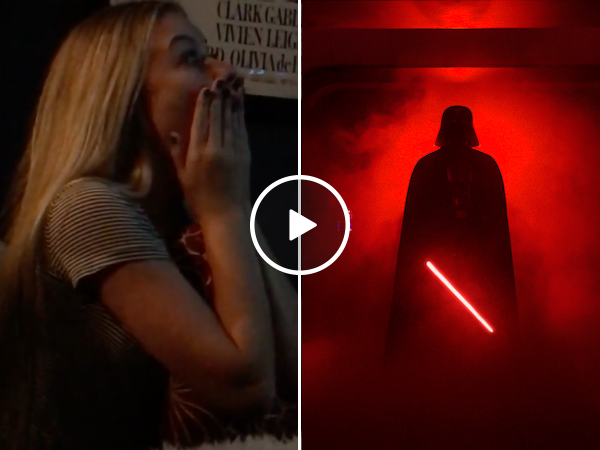 Girl has adorable reaction to finally seeing Rogue One for the first time (Video)