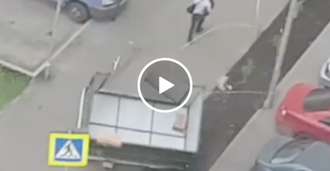 Man casually almost dies and he couldn't care less (Video)