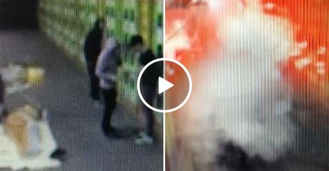 Assholes set of fireworks on top of sleeping homeless man