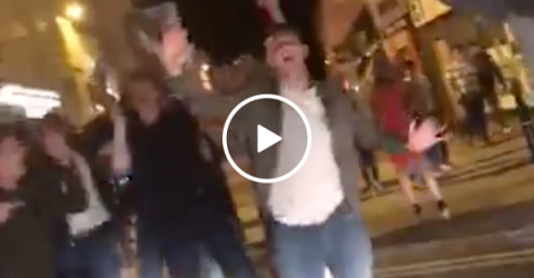 Impromptu dance party breaks out in the streets of England (Video)