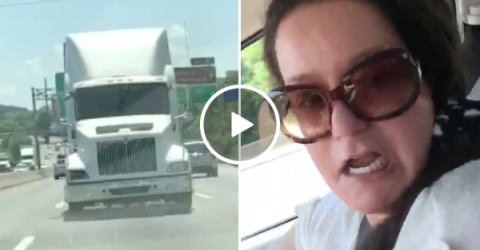 Guy finds perfect moment to scare the sh!t out of his sleeping mom (Video)