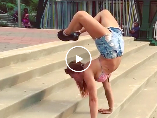 Scorpion Handstands: Equal parts arousing and intimidating (Video)