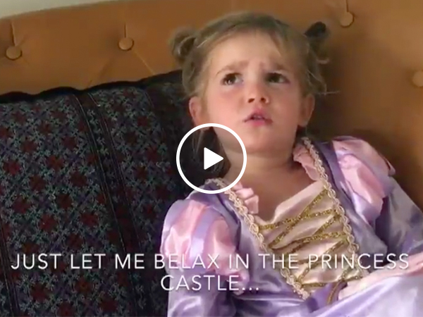 Adorable little girl is wildly unimpressed with her trip to Disneyland (Video)