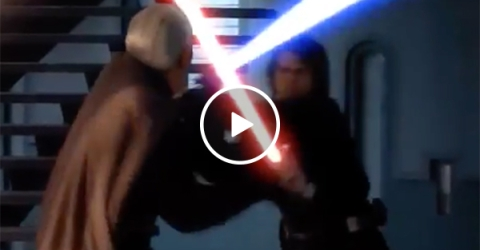 Lightsaber sounds replaced by Owen Wilson saying 'Wow' (Video)