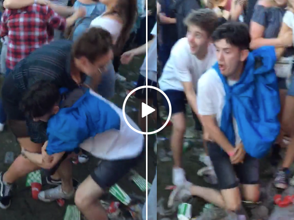 Guy tries picking up girl and gets swift knee to the groin instead
