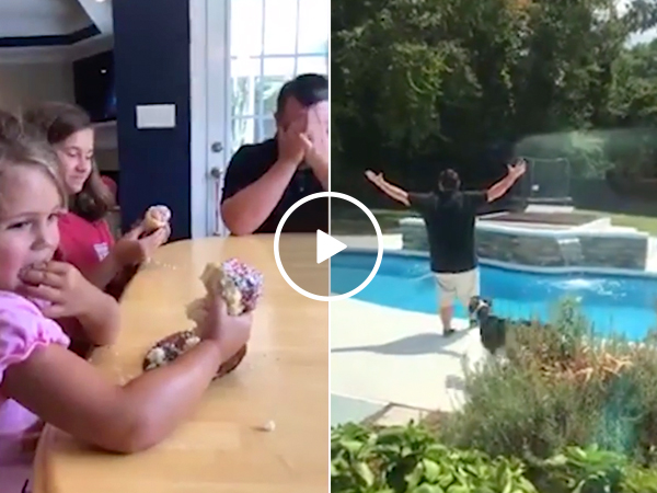 Dad finds out he's having 5th daughter, soul crushes immediately (Video)