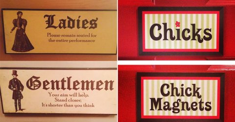 Funny and imaginative bathrooms signs (25 Photos)