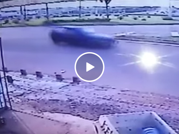 Guy almost gets hit by car