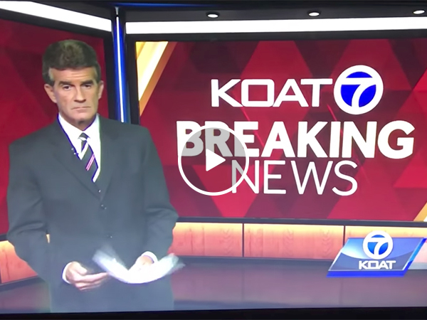 News anchor leaves the television set