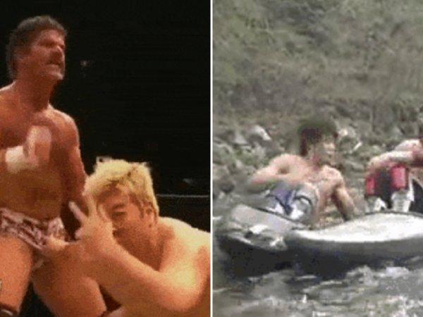 Japanese wrestling is very weird (15 GIFs)