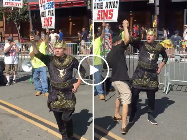 Game of Thrones cosplayer gives speech we can all rally around (Video)