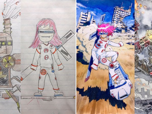 Animator dad brings kids' drawings to life (30 Photos)