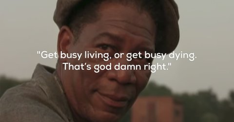Awesome quotes from Morgan Freeman's characters (17 Photos)