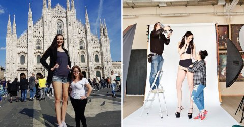 Ekaterina Lisina is the tallest model in the world (11 Photos)
