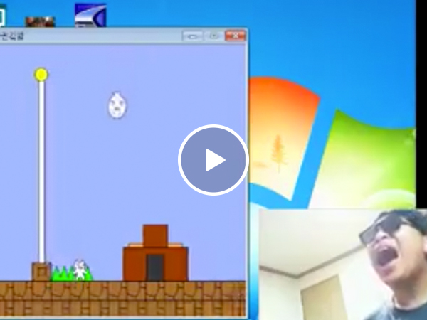 Gamer loses his mind playing the frustratingly impossible 'Cat-Mario' (Video)