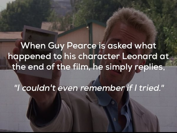 Some unforgettable facts about the thriller Memento (17 Photos)