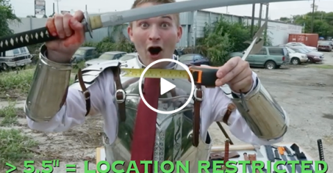 The Texas Law Hawk is here to tell you about your sword carrying rights (Video)