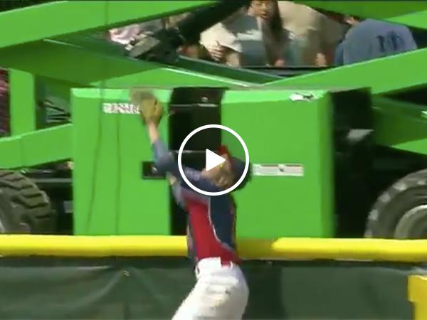 Kid robs home run