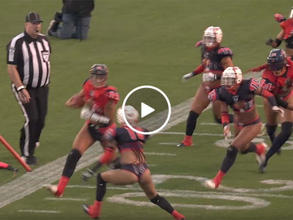 Big hit from the Lingerie Football League