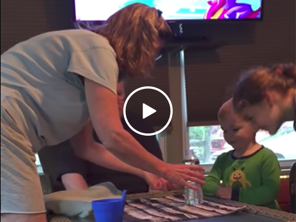 Mom fails at water bottle prank