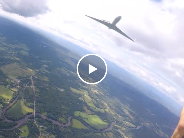 """Parachuter has pure """"OH S#*%' moment (Video)"""