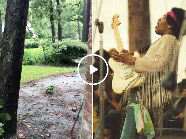Guitar player plays National Anthem for neighbors hit by Hurricane (Video)