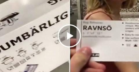 Man puns his way around IKEA with girlfriend (Video)
