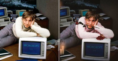 Young Bill Gates gets the the Photoshop treatment (18 Photos)