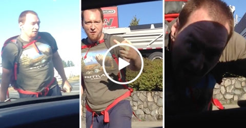 Cyclist goes through driver's window in road rage incident