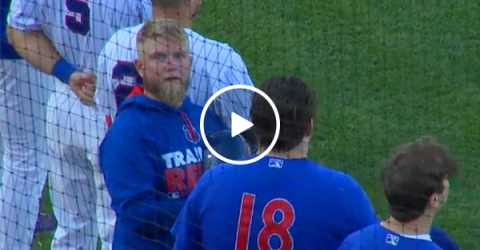Baseball player can't take his eyes off of you (Video)
