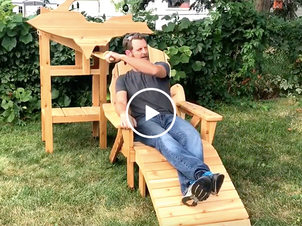Guy builds epic beer chair