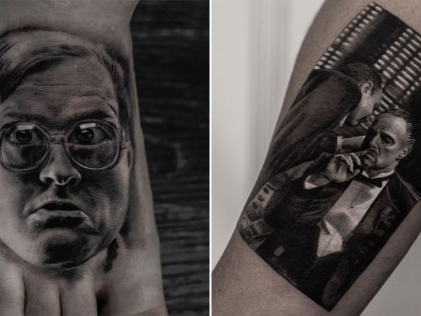 Incredible tattoo artist Inal Bersekov creates photo realistic designs