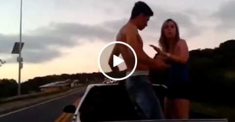 Dipsh*t douche gets the swiftest kind of karma (Video)