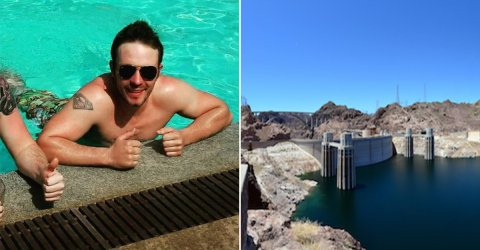 Drunk man first person to swim the Hoover Dam and survive (5 Photos)