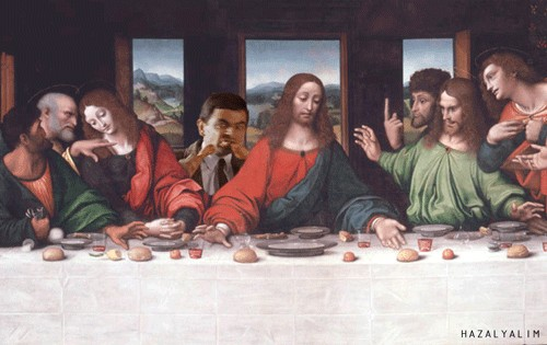 giampietrino last supper ca 1520 59c91ad5dbb38  7009 Classic paintings merged with GIFs is a reality I never couldve imagined (16 GIFs)