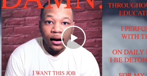 Guy raps his resume to Kendrick Lamar's 'Loyalty' and someone give this man a job (Video)