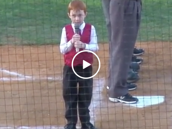 Adorable boy nails Australian Anthem with hiccups (Video)