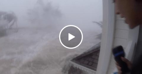 Couple films Hurricane Irma in Saint Martin (Video)