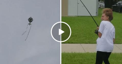 New Sport? People go kite fishing during Hurricane Irma (Video)
