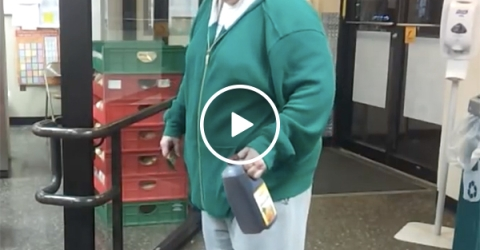 Crazy customer comes into the store