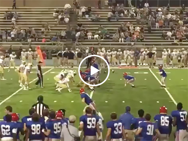 Boy with down syndrome scores a touchdown