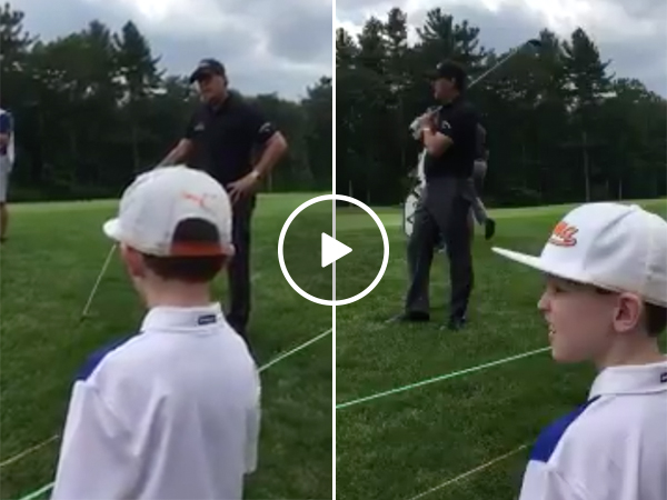 Kid gives Phil Mickelson golf advice