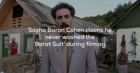 20 facts about the films of comedic genius Sasha Baron Cohen