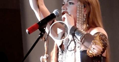 Siberian Shaman Lady performs bizarre techno beatbox (Video)