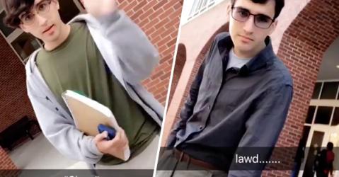 Hilarious Snapchat creates amazing transformation in college freshman