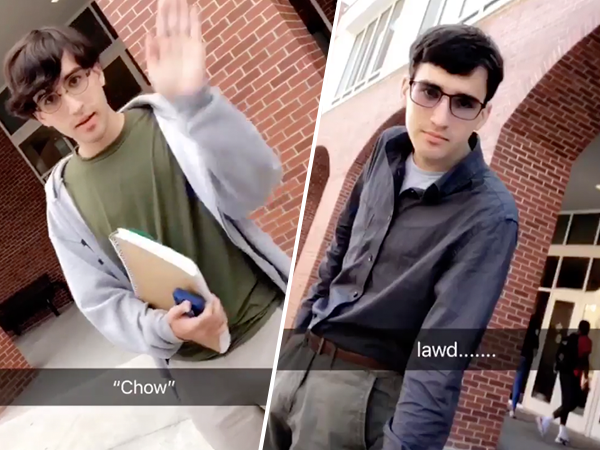 Hilarious Snapchat creates amazing transformation in college freshman