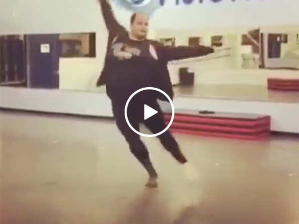 Large dancer shows off some serious skills