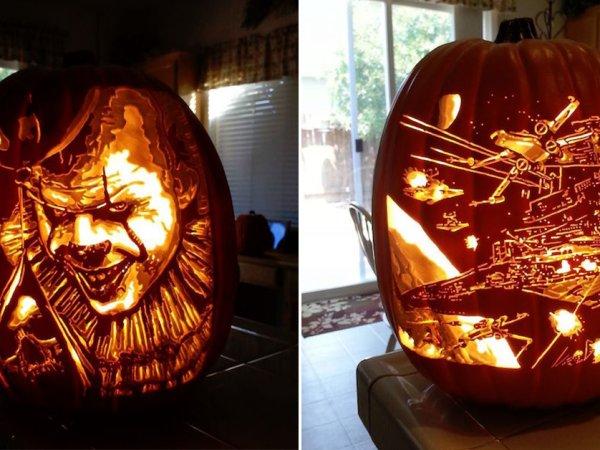 Amazing pumpkin carves from the Pumpkin Geek