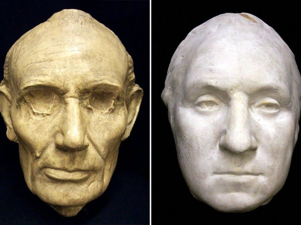 Death masks of historical figures